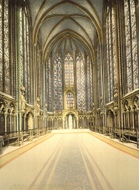 Art Prints of The Holy Chapel or Sainte Chapelle Interior, Paris, France (387441)