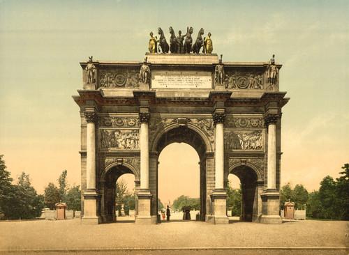 Art Prints of Arc de Triomphe du Carrousel, Paris, France (387453)
