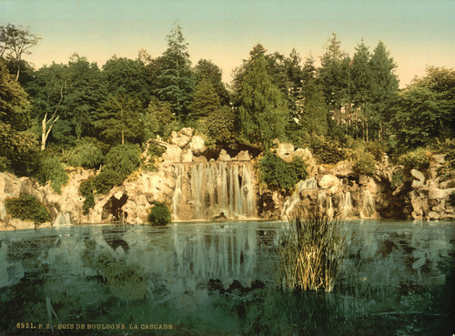 Art Prints of Bois du Boulougne or Boulogne, the Cascade, Paris, France (387456)