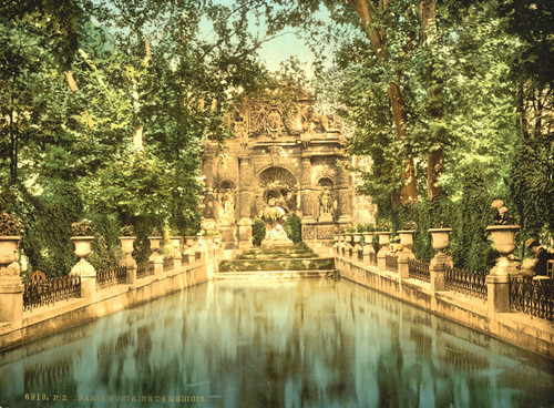 Art Prints of Luxembourg Gardens, the Medici Fountains, Paris, France (387458)