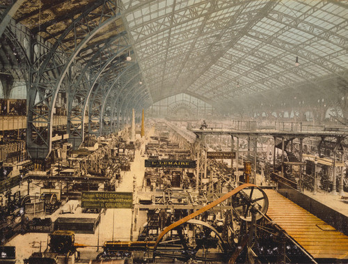 Art Prints of Interior View of the Gallery of Machines, Paris, France (387481)
