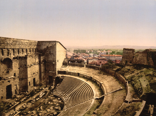 Art Prints of Roman Theatre Interior, Orange, Provence, France (387501)