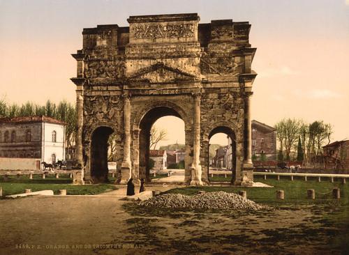 Art Prints of Triumphal Arch, Orange, Provence, France (387502)