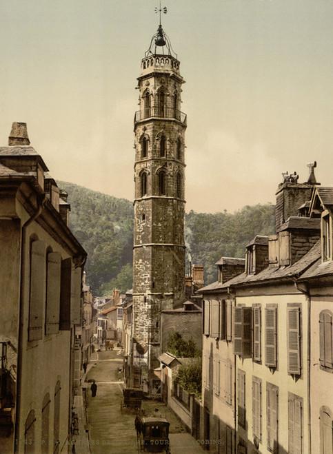 Art Prints of Jacobin Tower Bagneres de Bigorra, Pyrenees, France (387509)