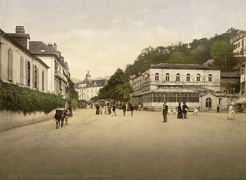Art Prints of Les Thermes Bagneres de Bigorra, Pyrenees, France (387510)