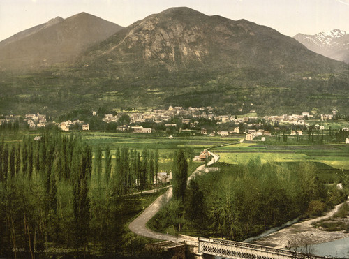 Art Prints of General View, Argeles, Pyrenees, France (387507)