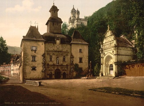 Art Prints of Chapel Place, Betharram, Pyrenees, France (387519)