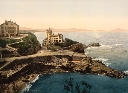 Art Prints of Villa Belsa, Biarritz, Pyrenees, France (387523)