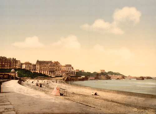 Art Prints of From the Beach, Biarritz, Pyrenees, France (387521)