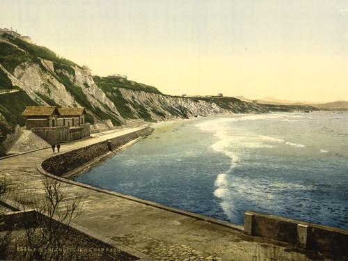 Art Prints of The Spanish Coast, Biarritz, Pyrenees, France (387524)