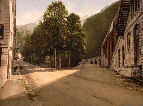 Art Prints of Darralde Gardens and Pic du Ger, Pyrenees, France (387536)
