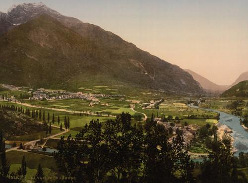 Art Prints of The Valley Laruns, Pyrenees, France (387544)