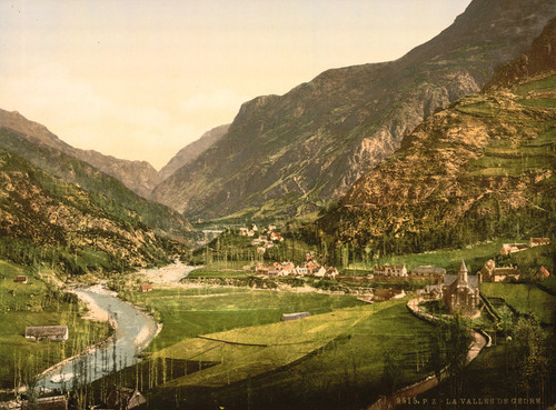 Art Prints of The Valley Gedre, Pyrenees, France (387543)