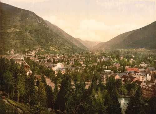 Art Prints of The Hotels, Luchon, Pyrenees, France (387557)
