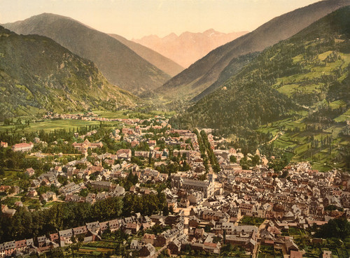Art Prints of General View, Luchon, Pyrenees, France (387556)