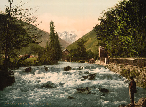 Art Prints of The Pique Waterfall, Luchon, Pyrenees, France (387558)