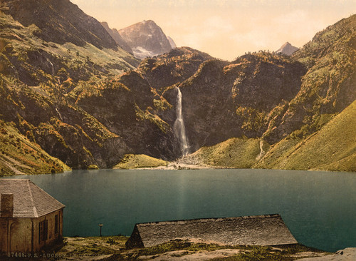 Art Prints of The Lake of Oo, Luchon, Pyrenees, France (387563)