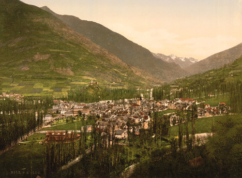 Art Prints of General View, Luz, Pyrenees, France (387564)