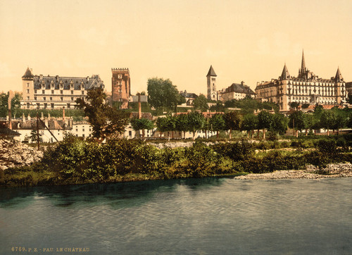 Art Prints of The Castle from South Front, Pau, Pyrenees, France (387569)
