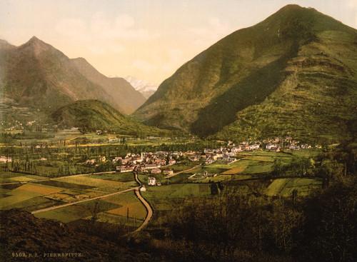 Art Prints of General View, Pierrefitte, Pyrenees, France (387573)