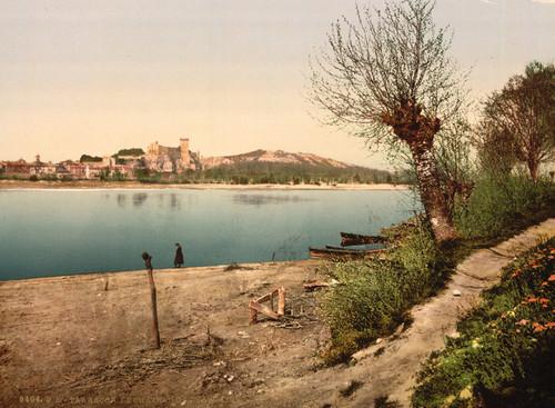 Art Prints of Beaucaire Castle, Tarascon, Pyrenees, France (387583)
