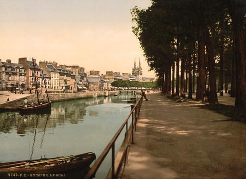 Art Prints of The Quay, Quimper, France (387586)