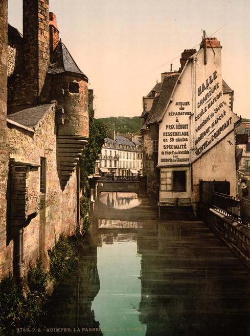Art Prints of The Footbridge of the Steir, Quimper, France (387587)