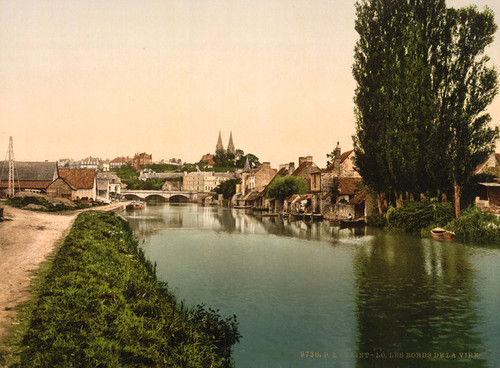 Art Prints of Banks of the Vire, St. Lo, France (387603)