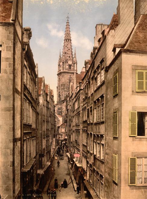 Art Prints of Grand Street, St. Malo, France (387606)