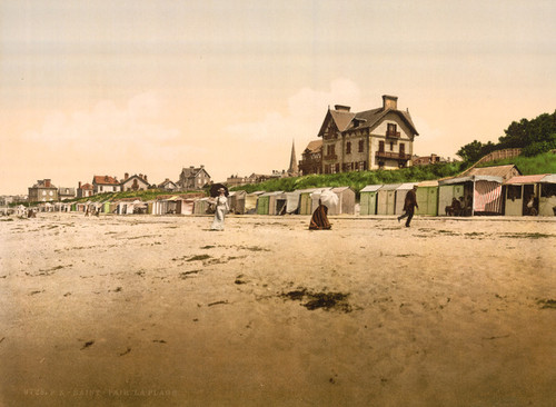 Art Prints of The Beach, St. Pair, France (387614)