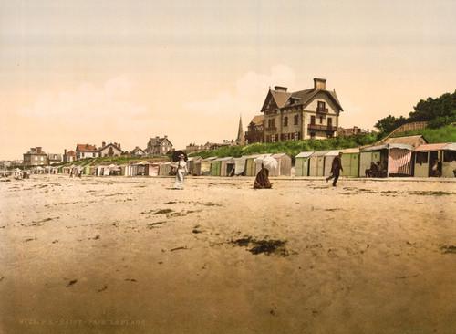 Art Prints of The Beach, St. Pair, France (387614)
