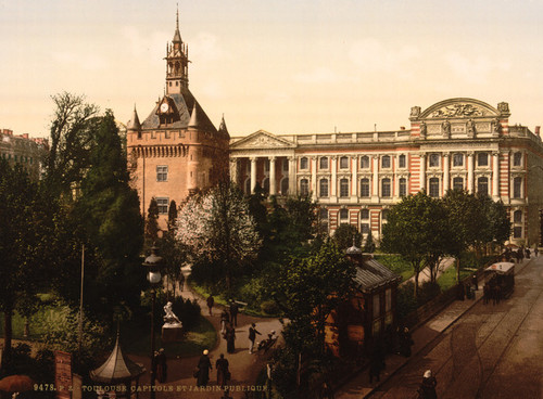 Art Prints of Capitol and Public Gardens, Toulouse, France (387618)