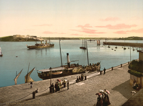 Art Prints of Entrance to Harbor, St. Malo, France (387610)