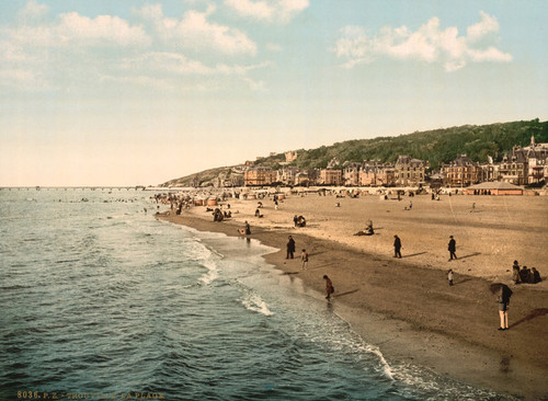 Art Prints of General View and Beach, Trouville, France (387627)