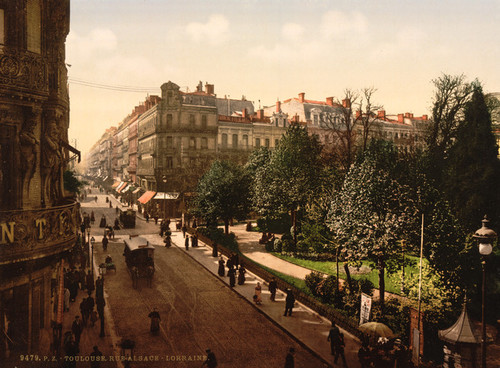 Art Prints of Alsace Lorraine Street, Toulouse, France (387620)