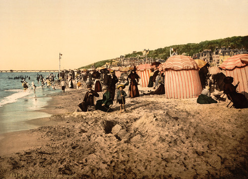 Art Prints of The Beach at Bathing Time, Trouville, France (387630)