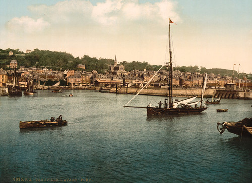 Art Prints of The Outer Port, Trouville, France (387629)