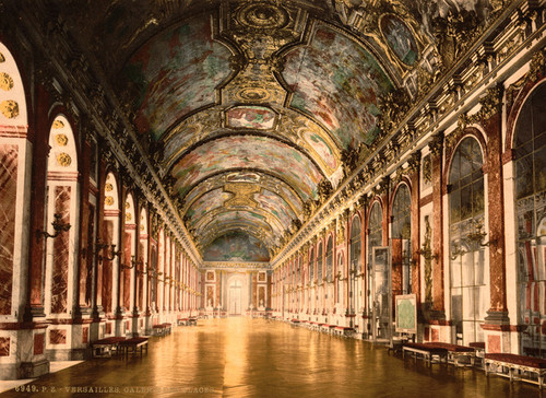 Art Prints of Gallery of Mirrors, Versailles, France (387644)