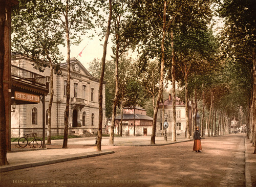 Art Prints of Hotel de Ville Posts and Telegraphs, Vichy, France (387724)