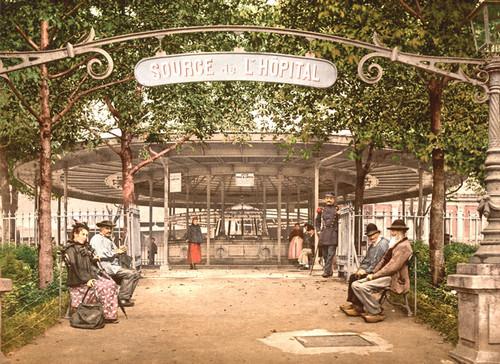 Art Prints of The Hopital Spring, Vichy, France (387731)