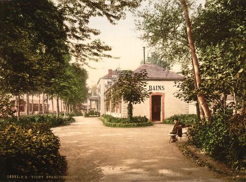 Art Prints of The Lardy Buildings, Vichy, France (387733)