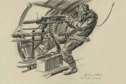 Art Prints of B-17 Waist Gunner, 1942 (22716L) by Howard Brodie