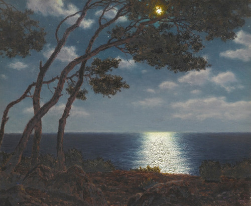 Art Prints of Moonlight on the Water by Ivan Fedorovich Choultse