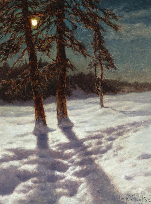Art Prints of Moonlit Landscape by Ivan Fedorovich Choultse