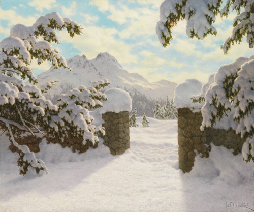 Art Prints of Winter Sun in Switzerland by Ivan Fedorovich Choultse