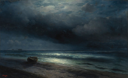 Art Prints of A Moonlit Night at Sea by Ivan Konstantinovich Aivazovsky