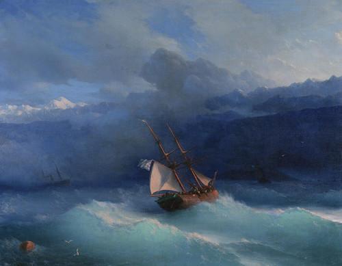 Art Prints of Along the Coast by Ivan Konstantinovich Aivazovsky
