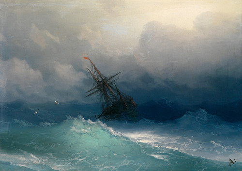 Art Prints of Gathering Storm by Ivan Konstantinovich Aivazovsky