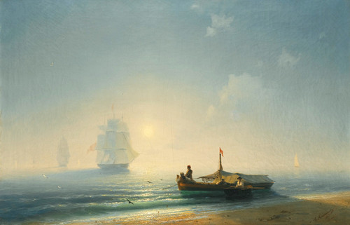 Art Prints of Fisherman at Dawn, Naples by Ivan Konstantinovich Aivazovsky