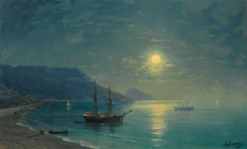 Art Prints of Evening in Crimea by Ivan Konstantinovich Aivazovsky